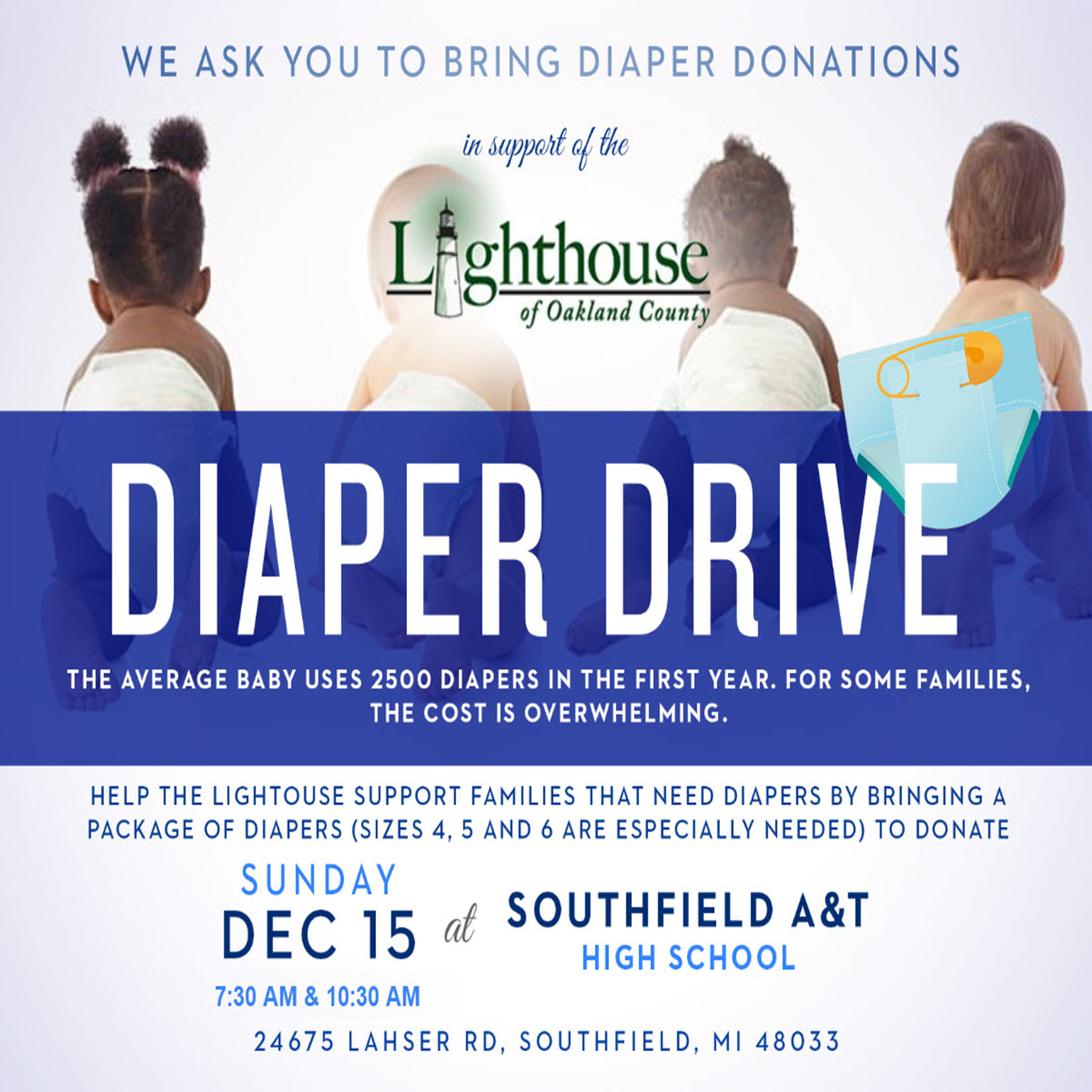 Diaper Drive Drop Off
