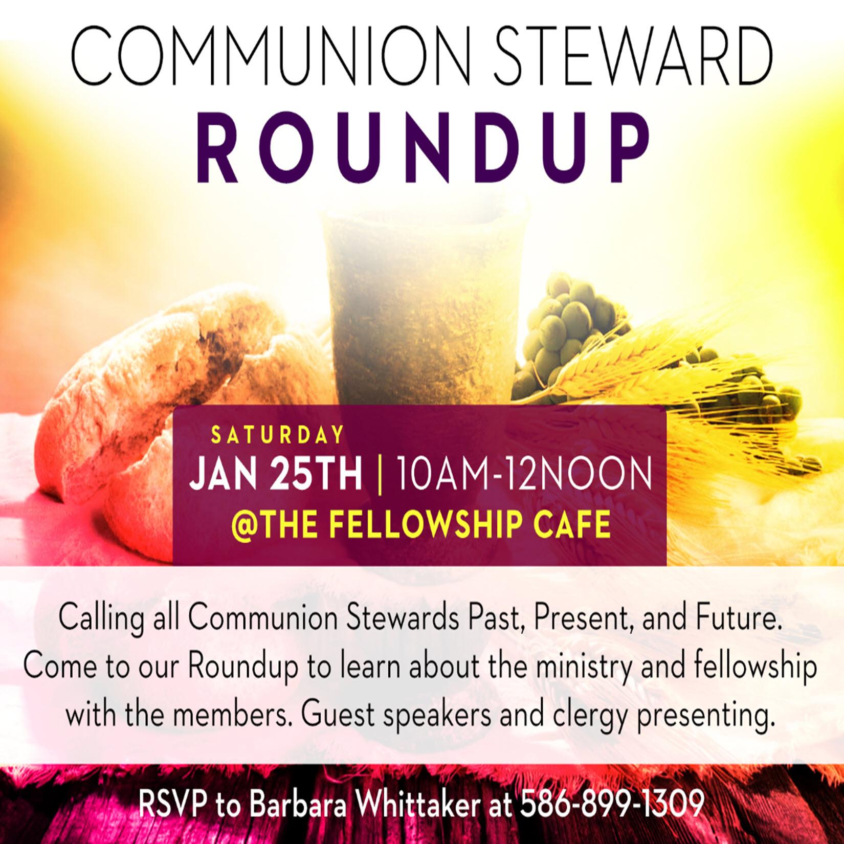 Communion Steward Roundup